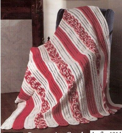 Peppermint Candy Afghan FREE Crochet Pattern
