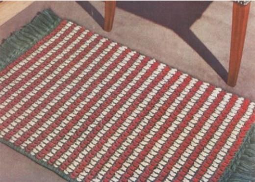 Criss-Cross Rug Free Crochet Pattern