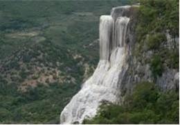 Petrified waterfall of Hierve el agua