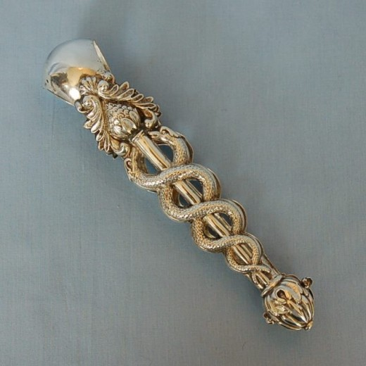 Early 19th Century Austrian 800 Fine Silver Sugar Tongs
