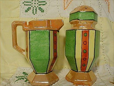 Lustreware Art Deco Berry Sugar Shaker Set