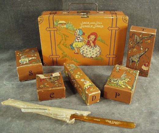 Vintage Jack & Jill Jungle Jinks Travel Set - California Perfume Co.