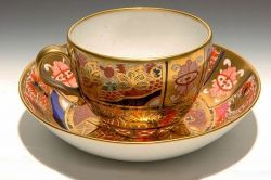 Chamberlain Worcester Cup & Saucer - Circa 1800 Picture source Ruby Lane