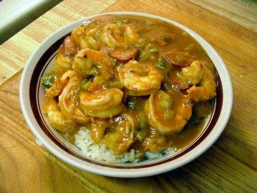 State Cuisine: Gumbo -  Frequently made with shrimp, but sausage, chicken, or other meats are also used. (Photo by jons2 at PDPhoto.org)