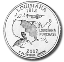 Louisiana State Quarter Coloring Page