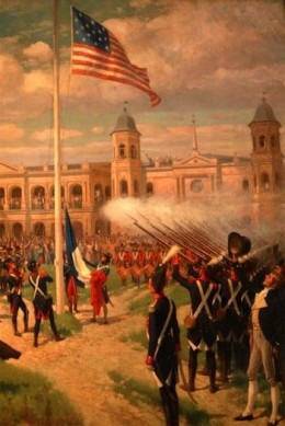 Hoisting American Colors, Louisiana Cession, 1803
