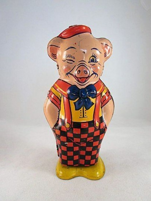 Chein Tin Litho Windup Pig