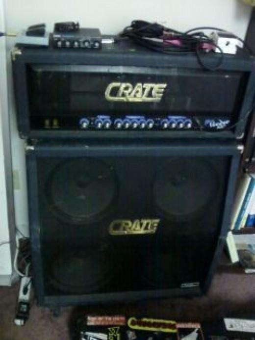 My Crate Blue Voodoo 120 watt Amp head and matching 4-12 slant cabinet