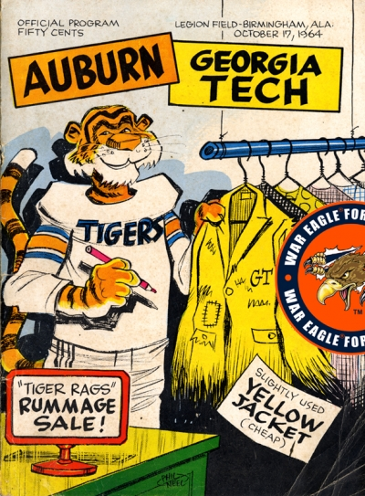 1964 Auburn-Georgia Tech Football Program