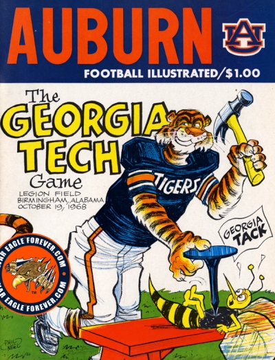 1968 Auburn-Georgia Tech Football Program