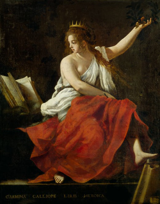 Calliope, the Greek Muse of Epic Poetry