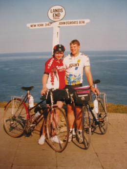 Setting off from Land's End, full of hope optimism and clean clothes... Only 1000 miles to go!