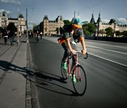 Riding Near the Nørrebro District