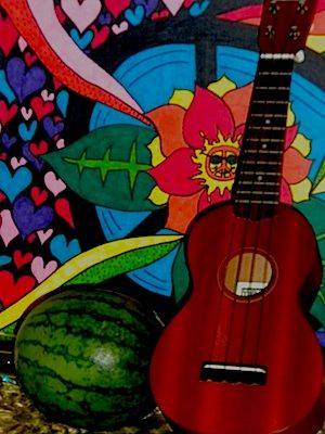 Add your own art to your home, have fresh fruit and veggies around, and make music a part of your home!