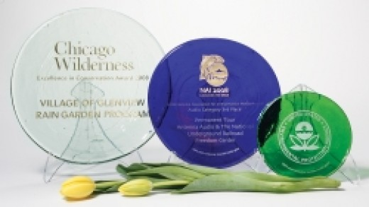 ReAwards are made from 100% recycled glass