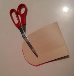 Homemade Valentine - cut the rows