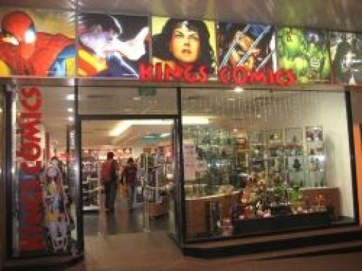 The eyecatching frontage to Kings Comics