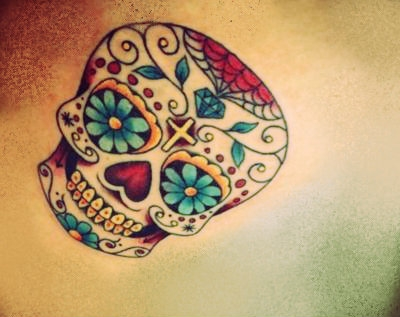 Mexican skull tattoo.  Source: http://media.beta.photobucket.com/user/antonella1933/media/mexican-skull-tattoo.jpg.html