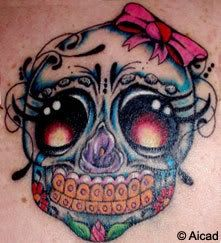 Cute girly skull tattoo. Source: http://media.beta.photobucket.com/user/ALMAPUNKRAWK/media/mexican-tattoos.jpg.html