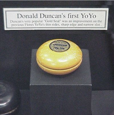 "Donald Duncan's First Yo-Yo on Display - The ""Gold Seal"""