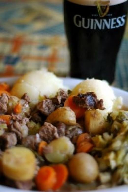 Irish Stew and Guinness Stout
