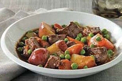Traditional Irish Stew served in bowl