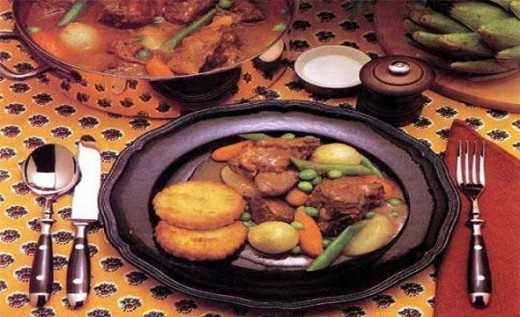 Savory Irish stew served in a bowl