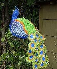 Peacock Pinata Decoration