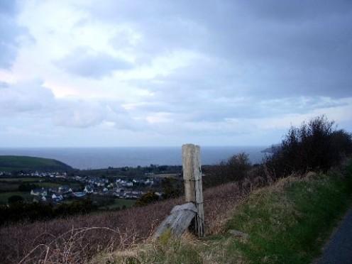 Hillside track in West Wales