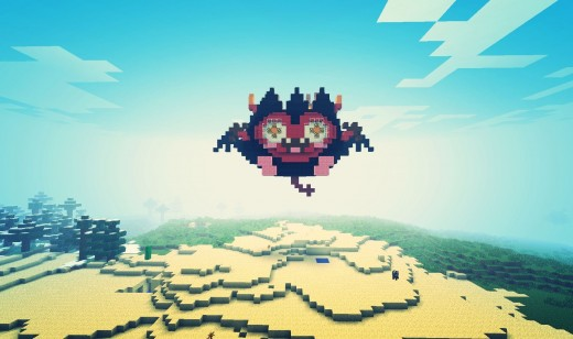 Diavlo Face Minecraft Art