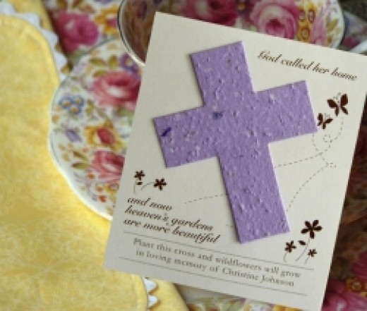 Cross Plantable Seed Memorial Cards