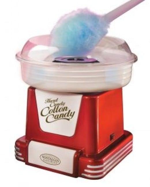 Nostalgia Electrics PCM-805RETRORED Retro Cotton Candy Maker