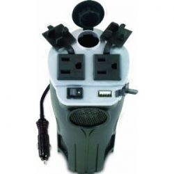 Cup Holder Power Inverter with USB Port