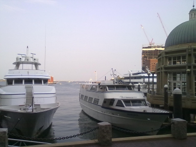 Water transportation terminal at Rowes Wharf