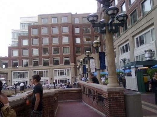 Boston Harbor Hotel view from marina