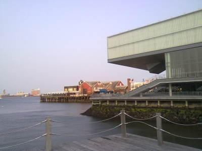 ICA Museum and Anthony's Pier 4 restaurant