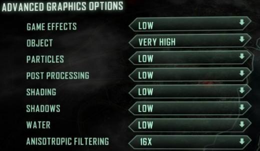 Crysis 3 Graphic Settings