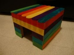 A house made from popsicle sticks