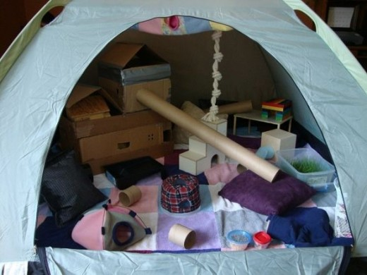 Tent play pen