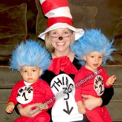 The Cat in the Hat with Thing 1, Thing 2 and a soon-to-be Thing 3!