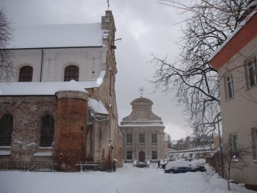Church in Vilnius in winter