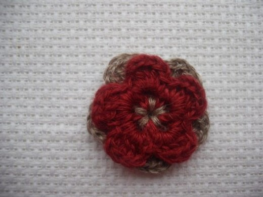 Double layer crochet flower