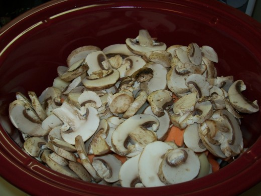 Fourth Layer: Mushrooms, Ginger, & Herbs