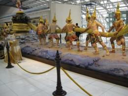 A giant sculpture at Bangkok Airport
