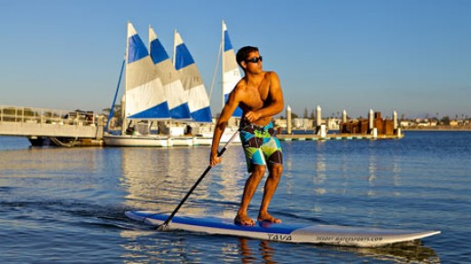 Paddle Boarding on Mission Bay