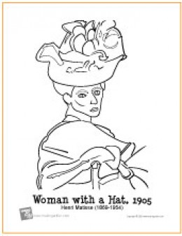 The Woman with the Hat | Coloring Page