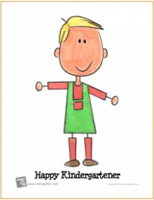 watercolor lesson kindergartener