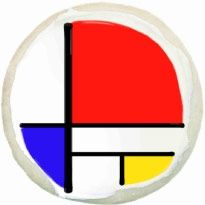 piet mondrian cookie