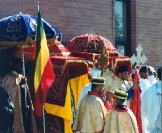 Ethiopian Orthodox procession