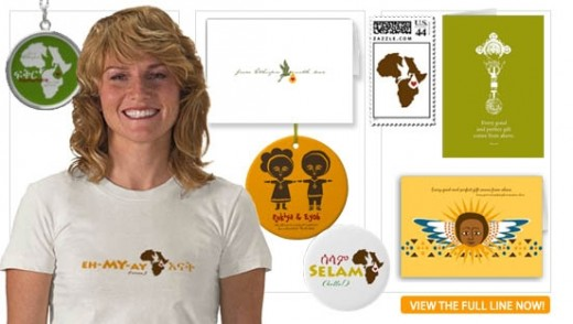 Ethiopian Adoption Announcements, tshirts, ornaments & decor made by an Adoptive Mom.
